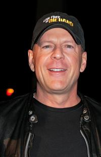 Bruce Willis at the Italian premiere of