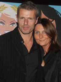 Lambert Wilson and Michelle Reiser at the premiere of