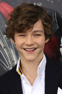 Levi Miller at the 'Pan' premiere at Ziegfeld Theater.