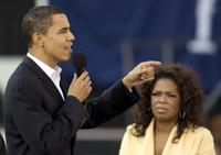 Oprah Winfrey at the Campaign Trail for Barack Obama.