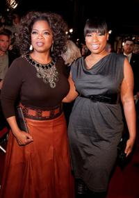 Oprah Winfrey and Jennifer Hudson at the Los Angeles premiere of