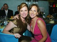 Mare Winningham and Marlee Matlin at the Shrine Auditorium after-party for the 2004 Creative Arts Awards.