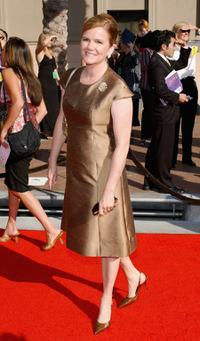Mare Winningham arrives at the 2004 Primetime Creative Arts Emmy Awards at the Shrine Auditorium.