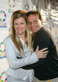 Mare Winningham and Peter Scolari at The Henry Fonda Music Box Theatre for WeSPARKLE Variety Hour.