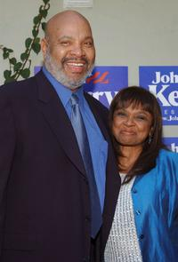 James Avery and Hattie Winston at the Lift Evry Vote Hollywood fundraiser.