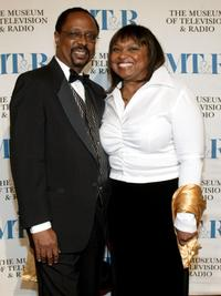 Hattie Winston and Guest at the Museum of Television & Radio Gala.