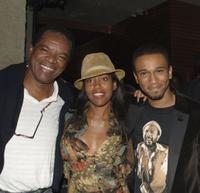 John Witherspoon, Regina King and creator/executive producer Aaron McGruder at the launch party for