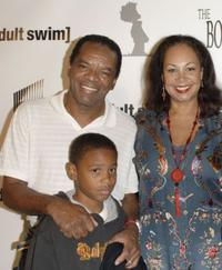 John Witherspoon, David and Angelo at the launch party for
