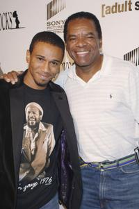 Aaron McGruder and John Witherspoon at the Los Angeles Launch Party for the TV Series