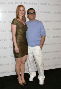Alicia Witt and Tadashi Shoji at the Tadashi 2008 Fashion Show during the Mercedes-Benz Fashion Week Spring 2008.
