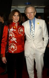 Sheila Wolfe and Tom Wolfe at the Tribeca Film Festival.