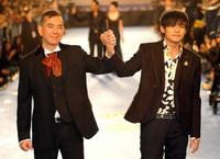 Anthony Wong and Jay Chou at the 42nd Golden Horse Awards.