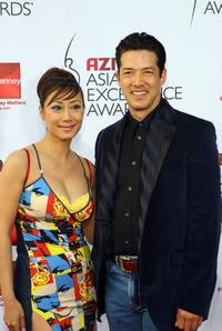 Elizabeth and her husband Russell Wong at the 2007 AZN Asian Excellence Awards.