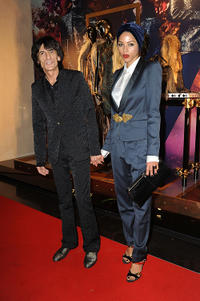 Ronnie Wood and Ana Araujo at the opening of the Roberto Cavalli London store in England.