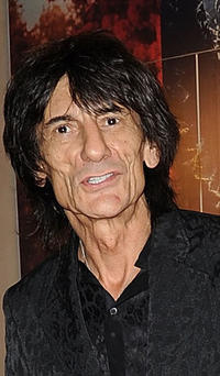 Ronnie Wood at the opening of the Roberto Cavalli London store in England.