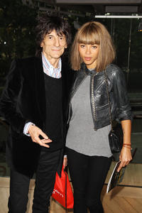 Ronnie Wood and Ana Araujo at the press night of Cleopatra: Northern Ballet in England.