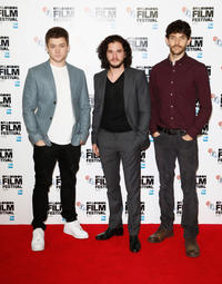 Taron Egerton, Kit Harington and Colin Morgan at the photocall of