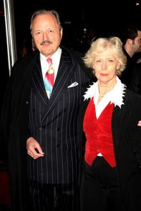 Peter Bowles and Guest at the world premiere of