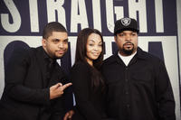 O'Shea Jackson Jr., Kimberly Woodruff and Ice Cube at the California premiere of