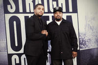 O'Shea Jackson Jr. and Ice Cube at the California premiere of