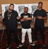 O'Shea Jackson Jr., Corey Hawkins and Jason Mitchell at the VIP screening of