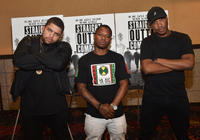 O'Shea Jackson Jr., Ice Cube and F. Gary Gray at the VIP screening of