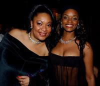 Cathy Jones and N'Bushe Wright at the anniversary party of