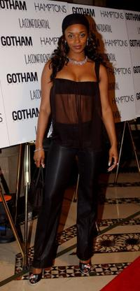 N'Bushe Wright at the anniversary party of