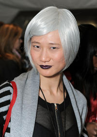 Ping Wu at the Mercedes-Benz Fashion Week in New York.