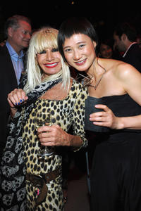 Betsey Johnson and Ping Wu at the HP Project Runway Designer Reunion in New York.