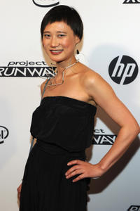 Ping Wu at the HP Project Runway Designer Reunion in New York.