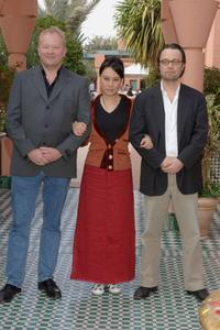 Bjame Henriksen, Vivian Wu and Director Henrik Ruben Genz at the photocall of