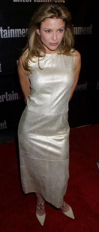 Kari Wuhrer at the Entertainment Weekly Academy Awards viewing party.
