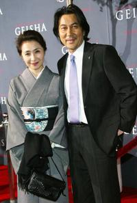 Koji Yakusho and guest at the premiere of