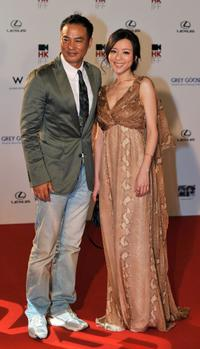 Simon Yam and Zhang Jing Chu at the 33rd Hong Kong International Film Festival.