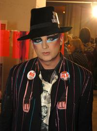 Boy George at the Heatherette fashion show during the Olympus Fashion Week.