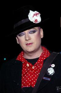 Boy George at the 49th annual Drama Desk Awards.
