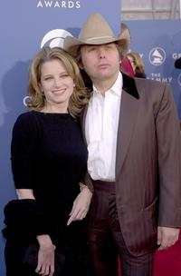 Bridget Fonda and Dwight Yoakam at the 43rd Annual Grammy Awards.
