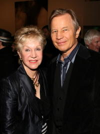 Patricia McCallum and Michael York at the Gagosian Gallery opening reception.