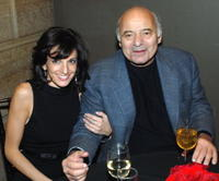 Burt Young and Lisa Marcelino at the afterparty premiere of