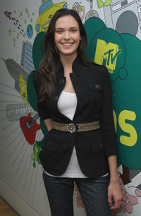 Odette Yustman at MTV's TRL in N.Y.
