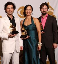 Dweezil Zappa, Moon Zappa and Guest at the 51st Annual Grammy Awards.