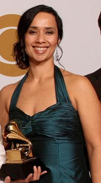 Moon Zappa at the 51st Annual Grammy Awards.