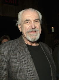 Louis Zorich at the curtain call and after party of the play