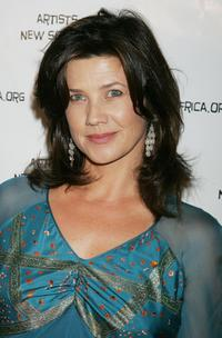 Daphne Zuniga at the Archbishop Desmond Tutu's 75 birthday gala fundraiser.