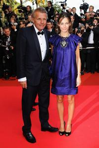 Patrick Poivre D'Arvor and Guest at the premiere of