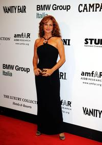 Giuliana de Sio at the amfAR's second Annual Cinema Against AIDS Rome.