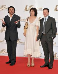 Bruno Salomone, Valerie Bonneton and Guillaume de Tonquedec at the opening night of the 2008 Monte Carlo Television Festival.