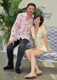 Guillaume de Tonquedec and Valerie Bonneton at the 2008 Monte Carlo Television Festival to promote the television series