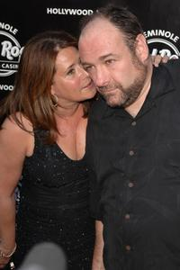 Lorraine Bracco and James Gandolfini at the Sopranos Swan Song at Hard Rock Live!.